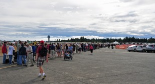 the awful thing about airshows is the line-ups...