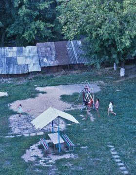 Kids on swings, Cheboksary, Russia, 1997