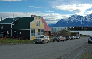This is downtown Atlin. There's not very much to do on a Saturday night!