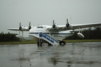 A very damp Short Sunderland on the ramp at Kermit Week's incredible Fantasy of Flight museum, 29 March 2005. I believe this is the last one that ever flew.