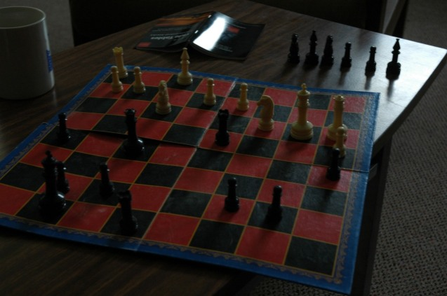 So I played chess, read and went hitchhiking...