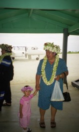 Local residents arriving home. Atiu, Cook Islands, November 2000. © Andrew A Bryant