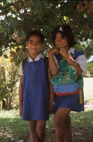 Local schoolgirls, Atiu, Cook Islands, November 2000. © Andrew A Bryant