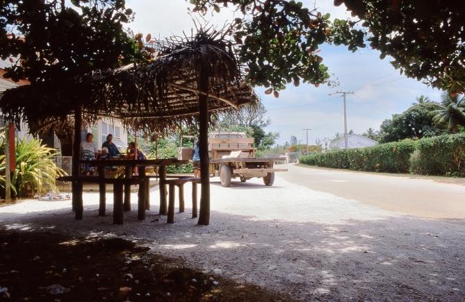 Teenui Village, Atiu, Cook Islands, November 2000. © Andrew A Bryant