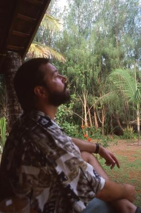 Andrew Bryant at Atiu, Cook Islands, November 2000. © Andrew A Bryant