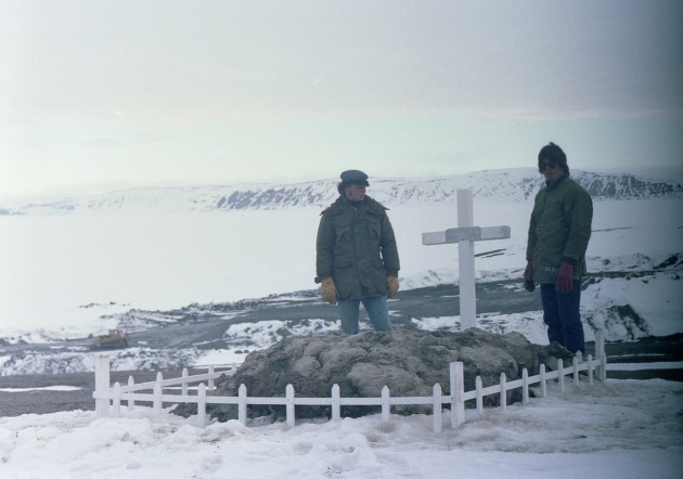Inuit grave, Mould Bay, NWT, 1979