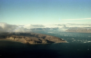 First glimpse of Ellesmere Island, NWT, 1979