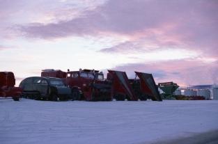 Snow equipment at Resolute Bay, NWT, 1979